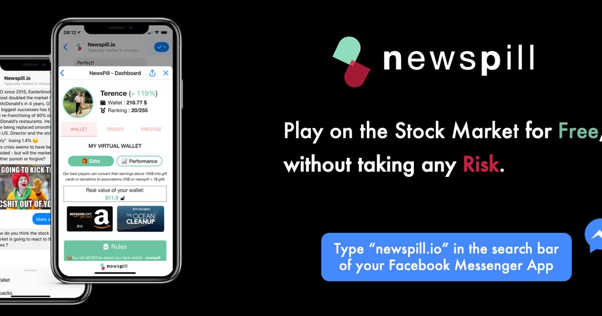 Newspill : le chatbot Messenger pour apprendre à jouer en Bourse de manière ludique et sans risque !