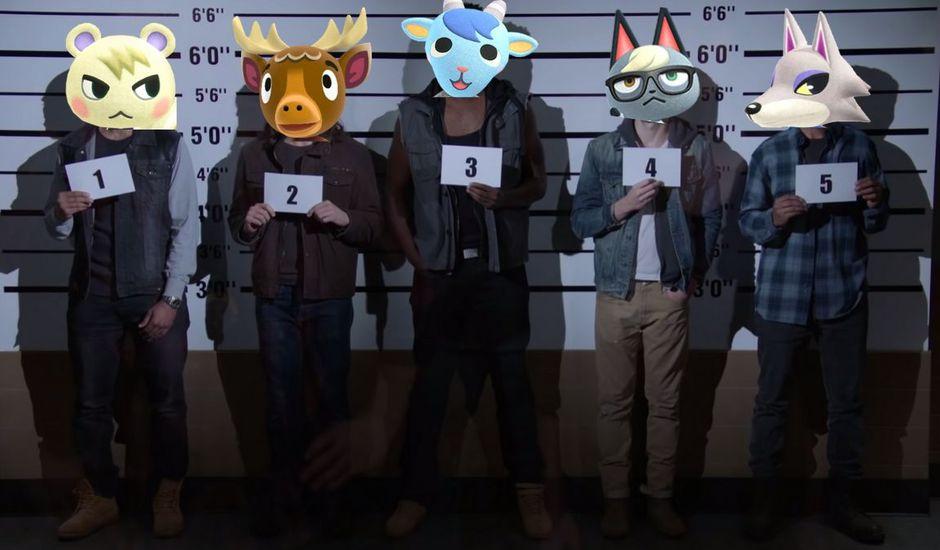 Montage des personnages dans Brooklyn Nine-Nine et d'Animal Crossing : New Horizons