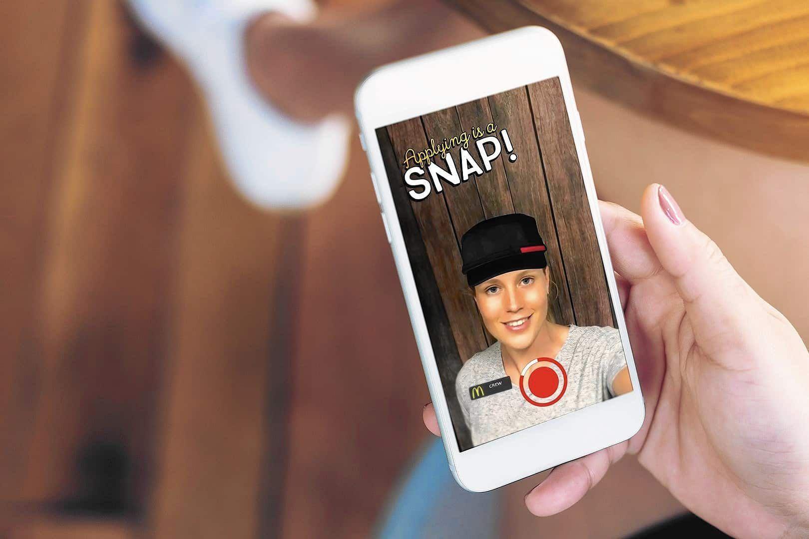 Recrutement McDo sur Snapchat