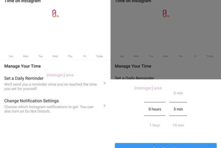 outil pour gérer le temps passé sur instagram