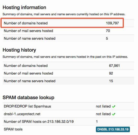 hosting information hébergement