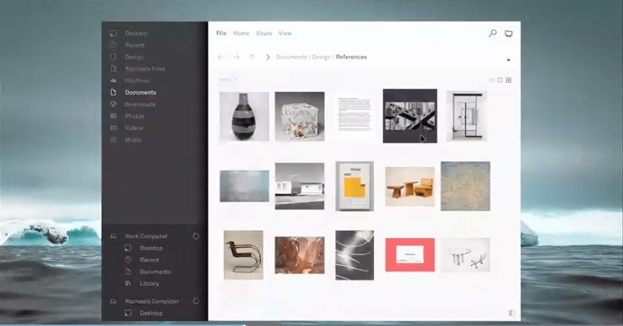 Gestionnaire de fichiers Fluent Design Microsoft