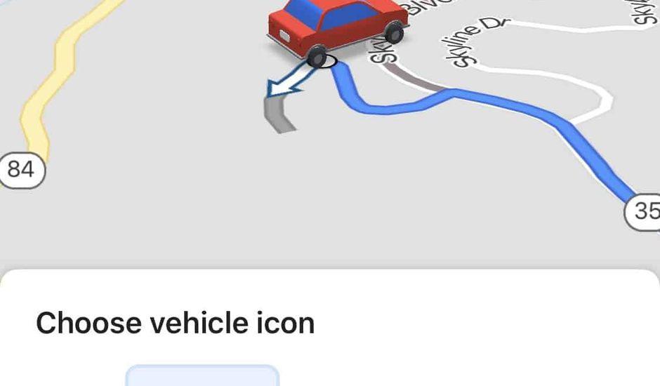 Google Maps vous laisse modifier votre icone de navigation