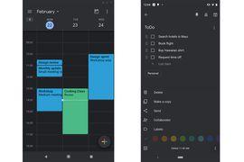 Google importe le dark mode à Keep et Calendar