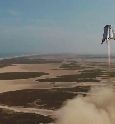 Le Starhopper a décollé de 150 mètres