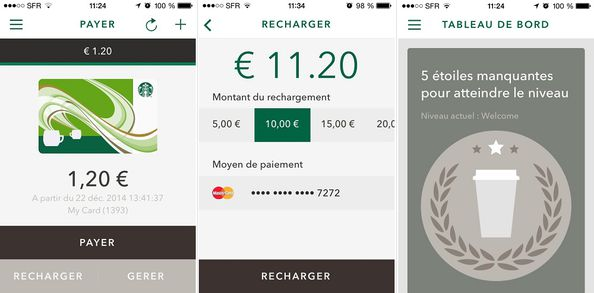 Starbucks application mobile France