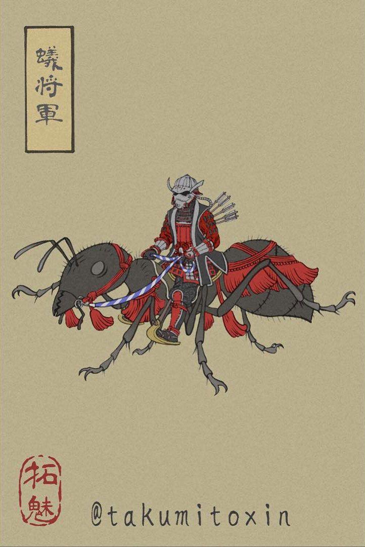 ant-man artworks ukyo-e