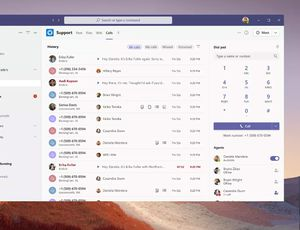 La nouvelle interface d'appels de Microsoft Teams.