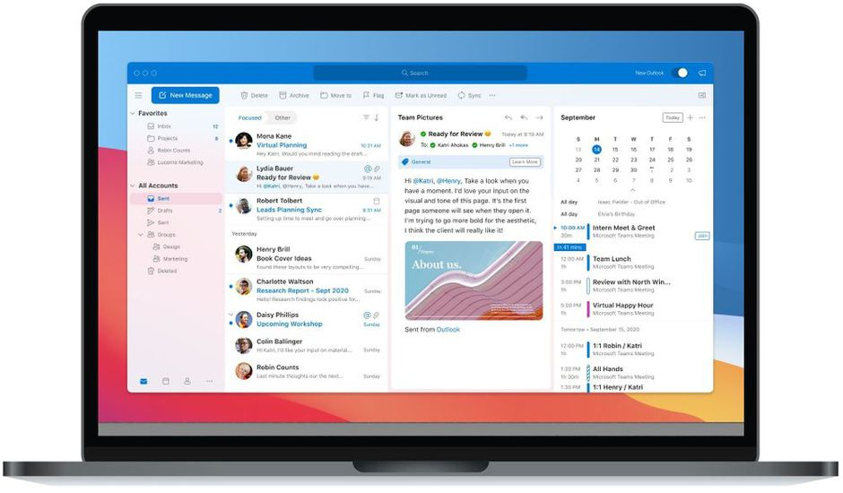 La nouvelle version d'Outlook pour macOS disponible à la mi-octobre