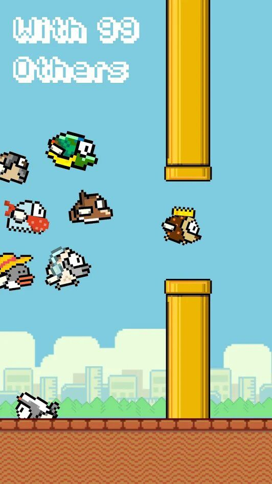 le jeu flappy bird en mode battle royale