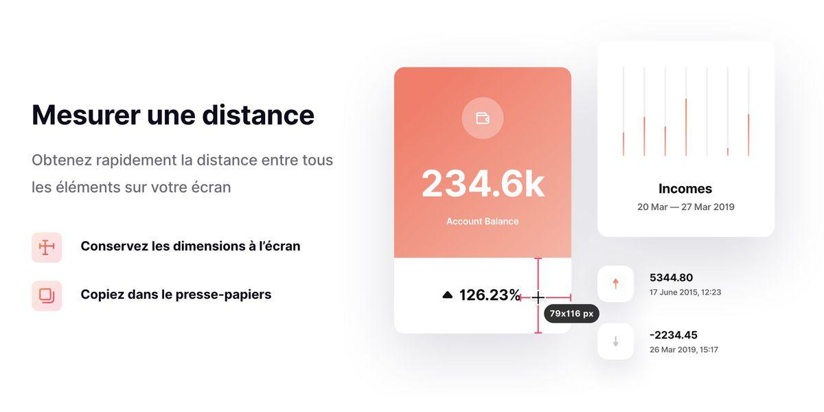 Cette application permet de mesurer n'importe quoi sur votre écran