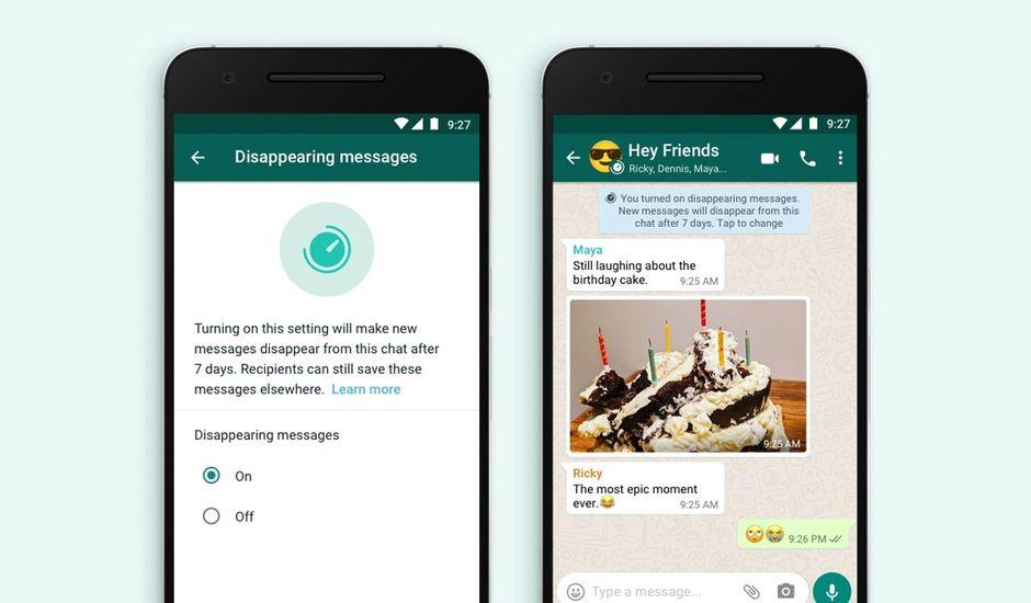 Des messages automatiquement effacés au bout d'une semaine — WhatsApp