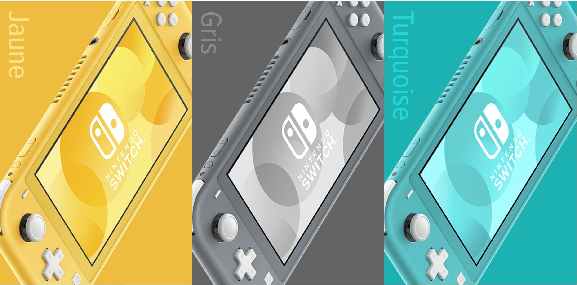 3 couleurs Switch Lite