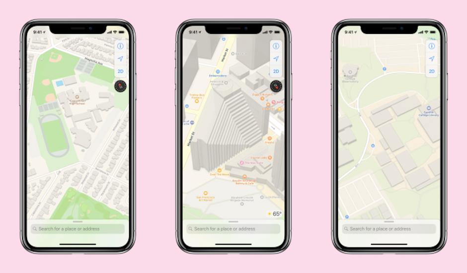 Une nouvelle version d'Apple Maps.