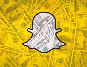 logo de Snapchat avec des dollars américains