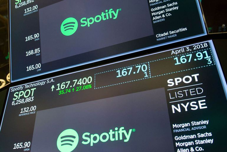 Spotify bourse streaming
