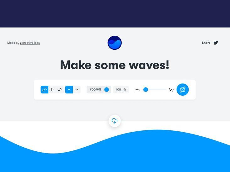 Get waves outil vague svg