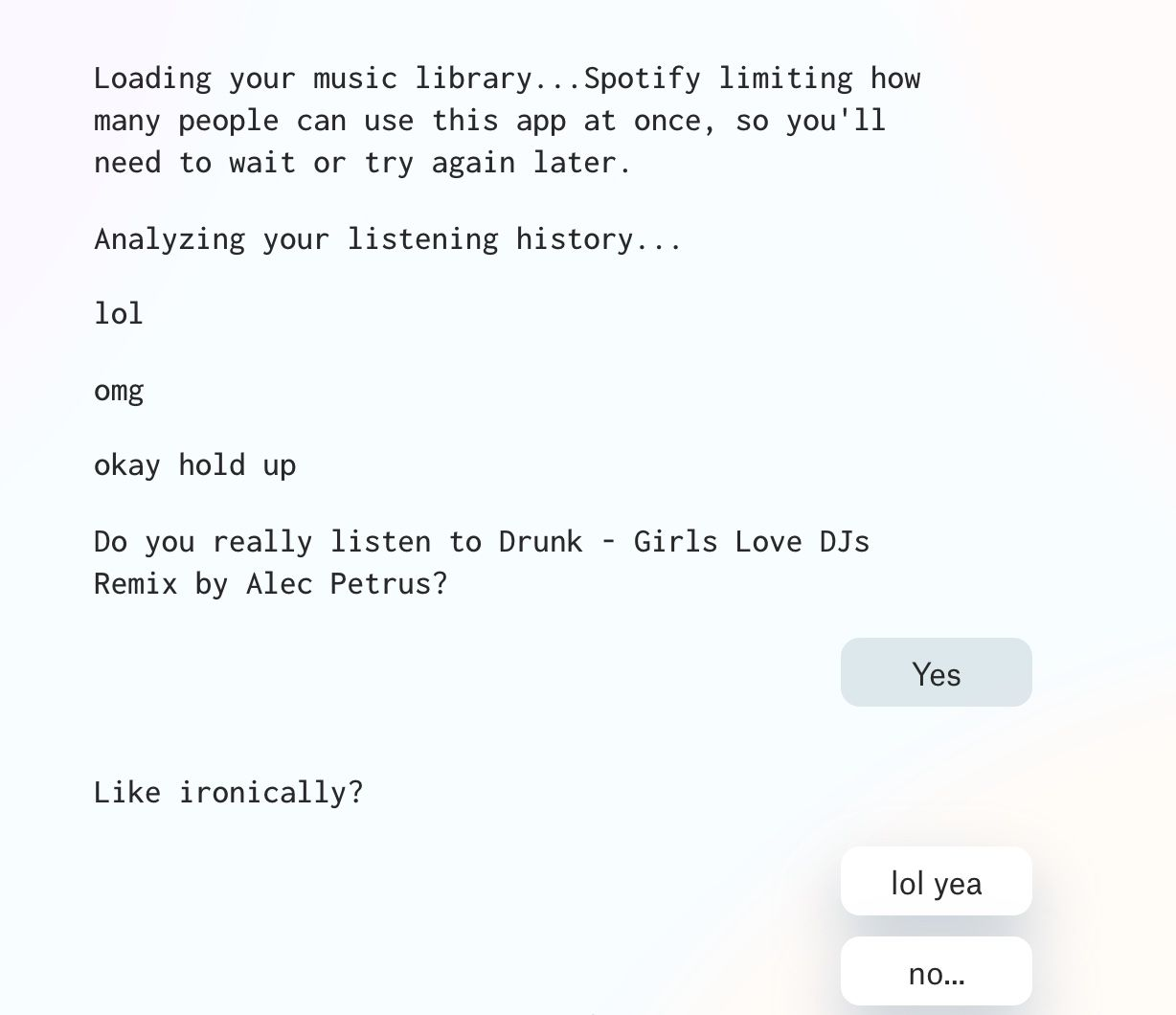 How Bad is Your Spotify AI