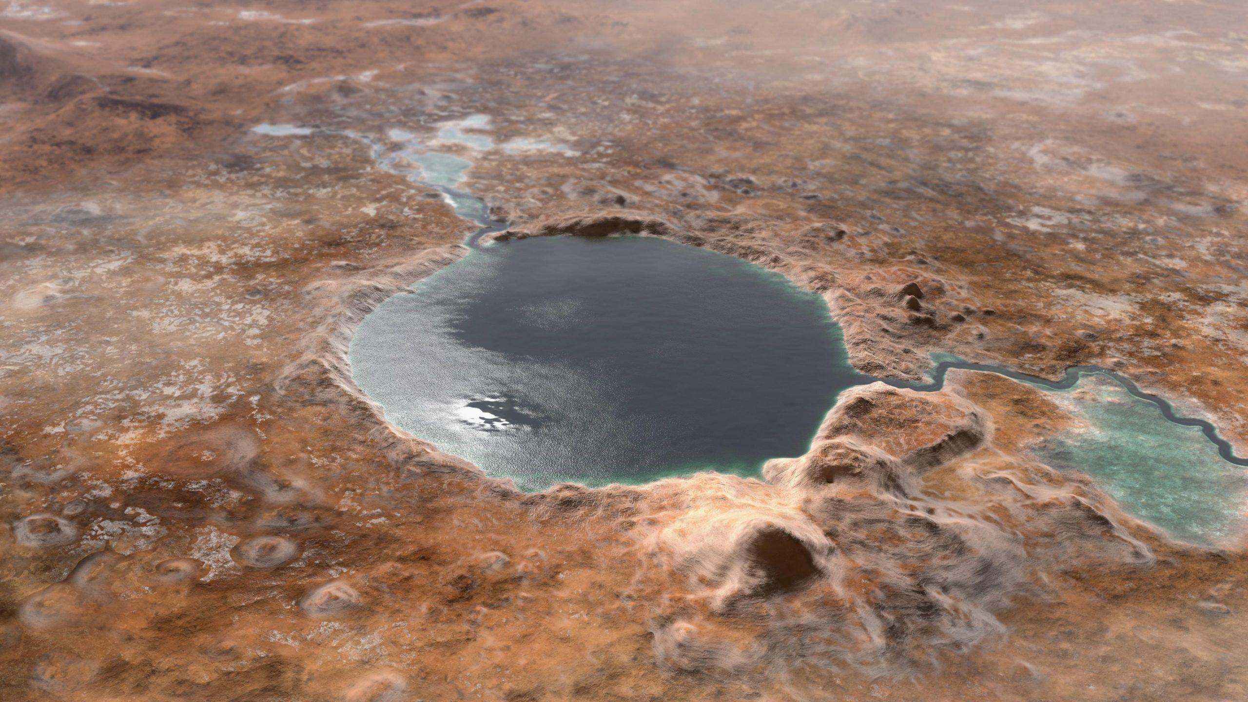 Modélisation de ce à quoi aurait pu ressembler Jezero sur Mars il y a très longtemps