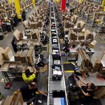 Image d'un entrepôt Amazon