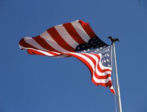Le drapeau des États-Unis.