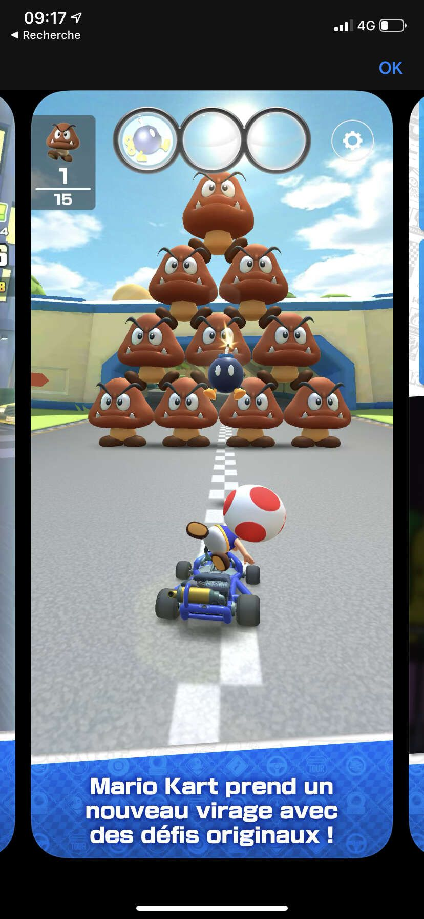 mario kart tour iphone défis