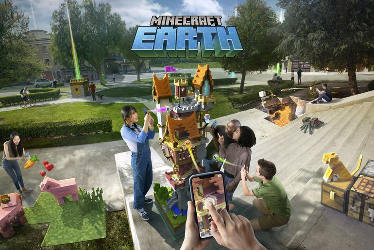 Minecraft Earth une version en AR