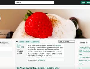 WT Social: page de Wales fondateur