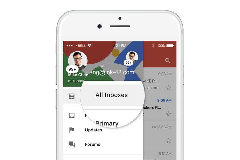 Gmail sur iOS permettra d'unifier ses boites de réception !