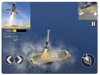 SpaceX : simulation jeu mobile