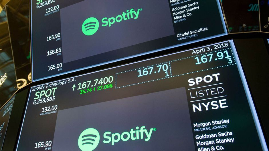 Spotify bourse streaming