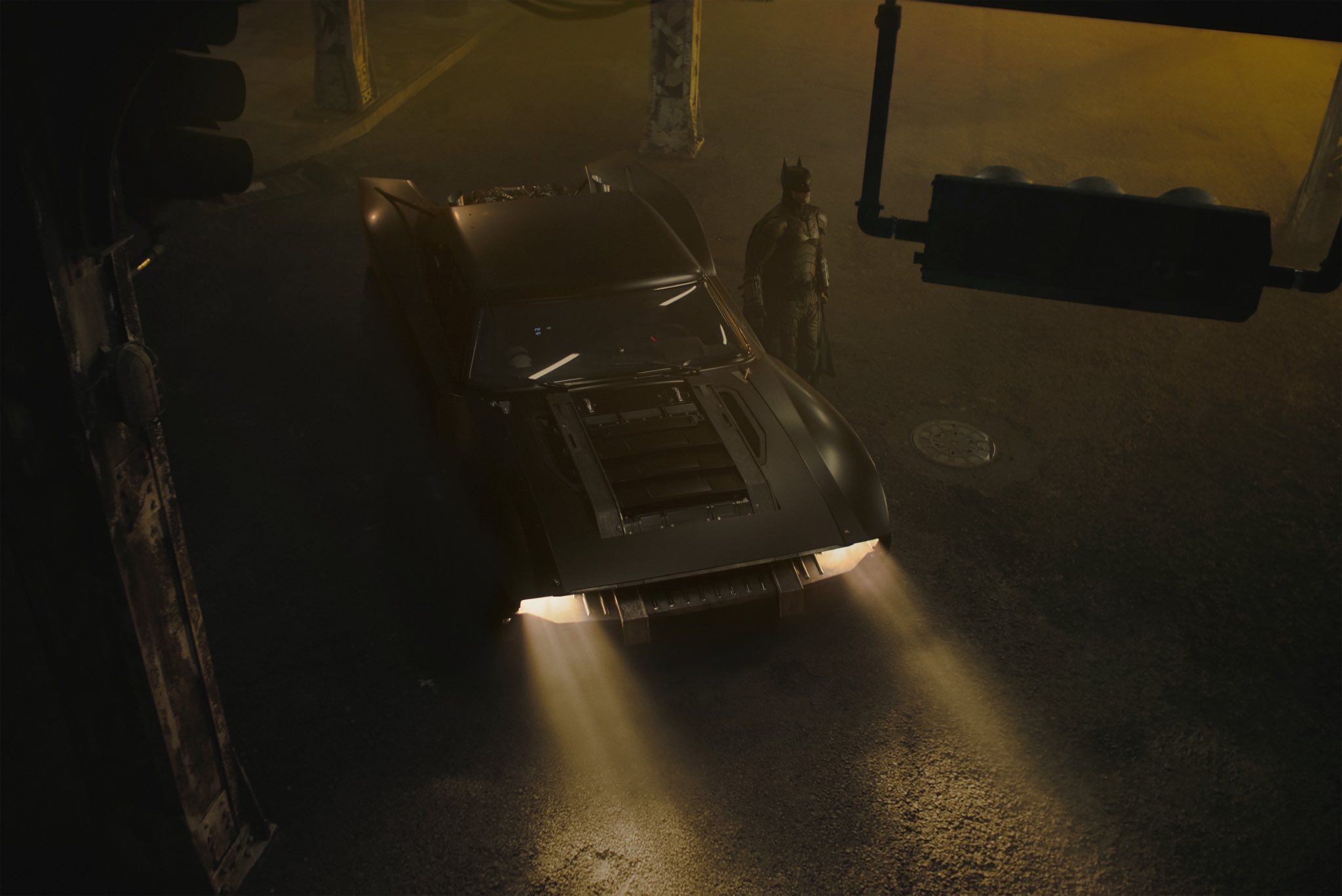 batmobile the batman vue du dessus