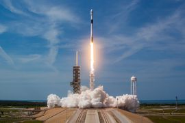 Décollage d'une fusée Falcon 9 de SpaceX