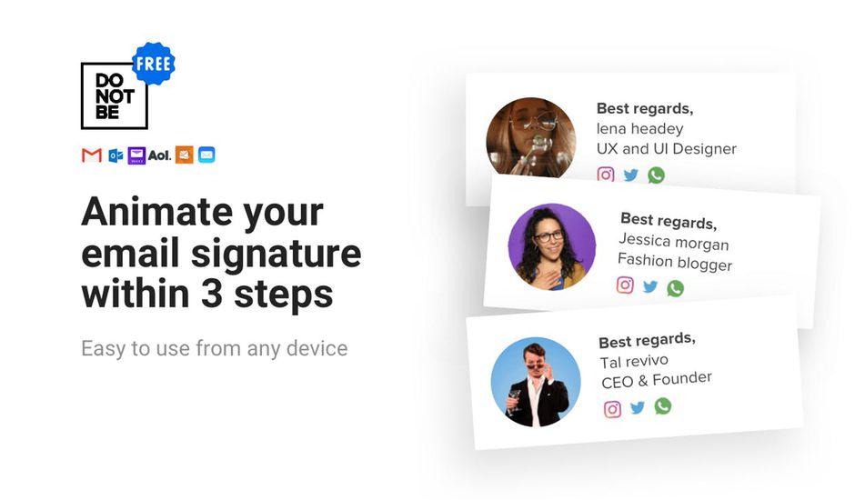 Cet outil permet de créer des signatures de mail uniques et animées gratuitement