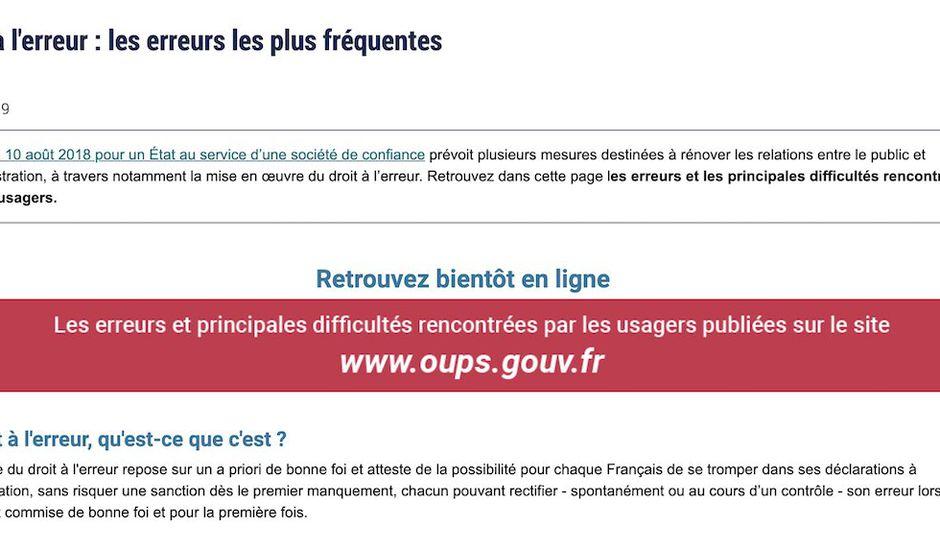 oups.gouv.fr nouveau site du gouvernement