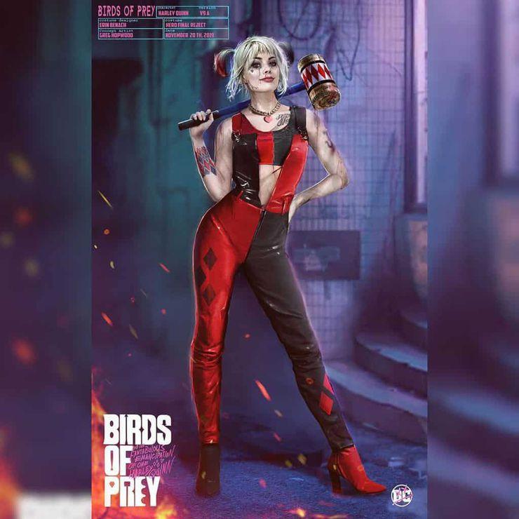 Concept art de Harley Quinn dans Birds of Prey par Greg Hopwood