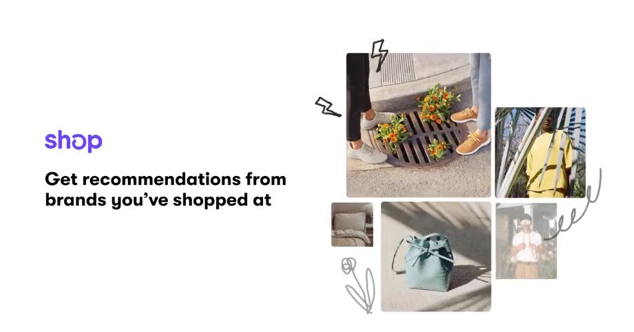 Capture d'écran de la vidéo de présentation de Shop par Shopify
