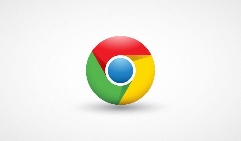 Le logo Google Chrome sur un fond blanc.