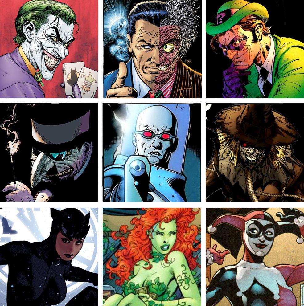 Les méchant des comics Batman