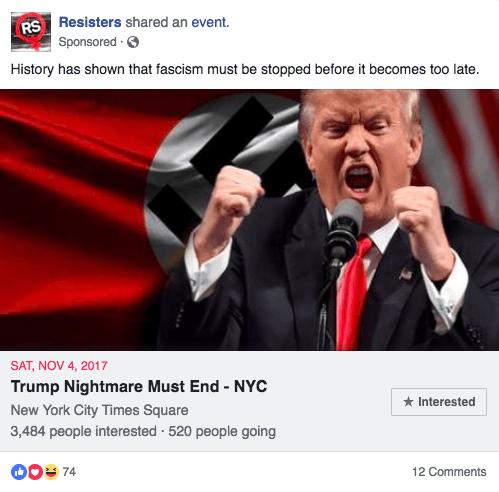 facebook influence bannissement états-unis division opinion