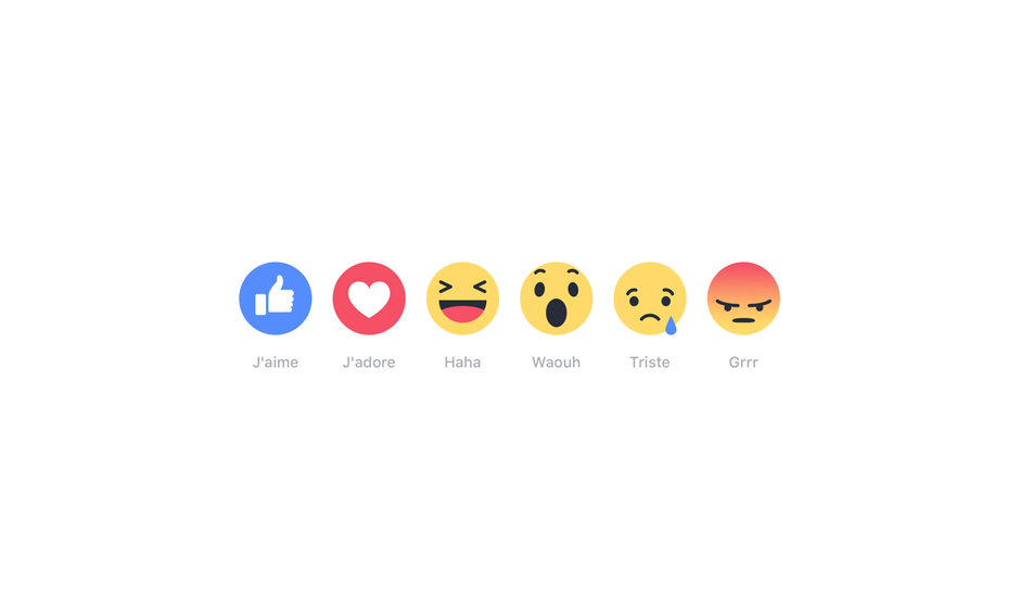 Facebook reactions bouton