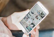 Un feed Instagram affiché sur un smartphone