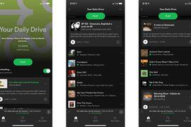 Your Daily Drive pour écouter des podcasts aux côtés des Daily Mix