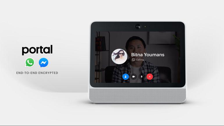 Les écrans Facebook Portal intègrent WhatsApp et arrivent en Europe