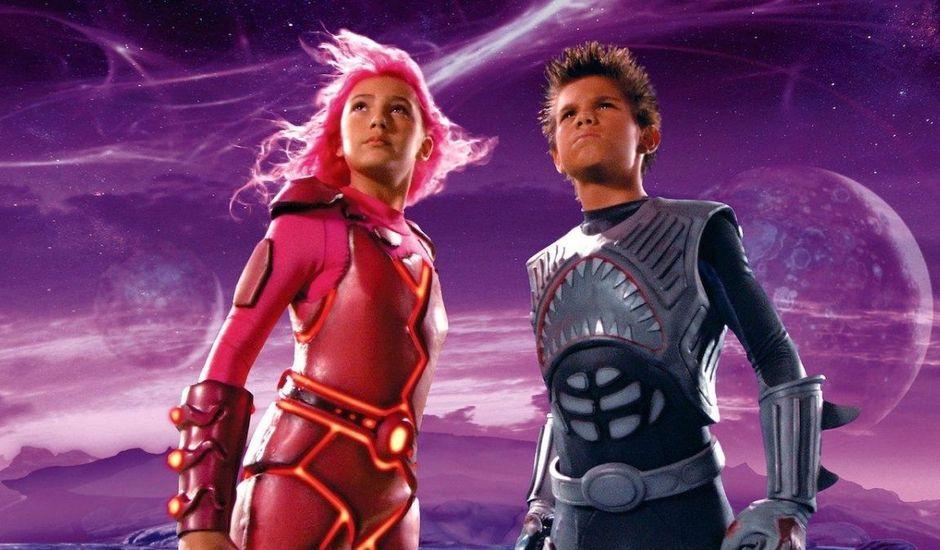 Taylor Dooley et Taylor Lautner dans Les Aventures de Shark Boy et Lava Girl
