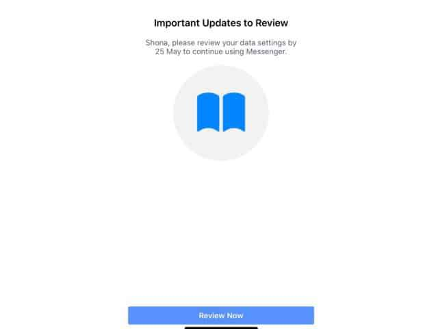 Facebook Messenger Pop up