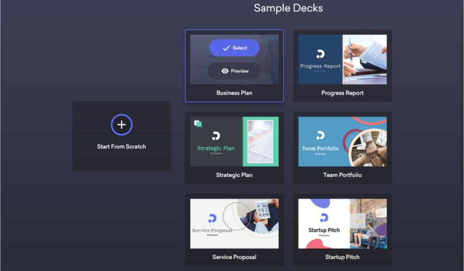 decktopus création présentation