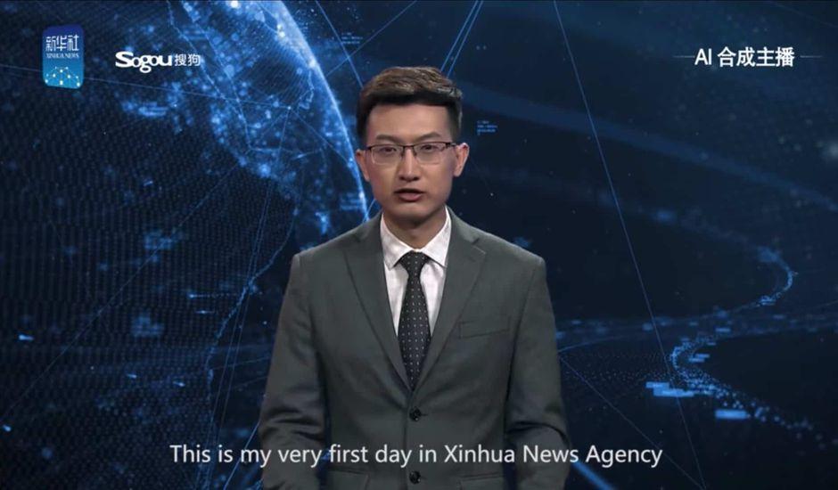 En Chine l'agence de presse Xinhua a créé un présentateur TV virtuel