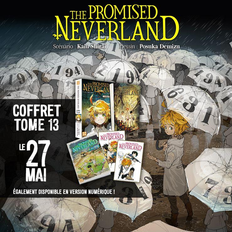Image de promotion pour le tome 13 de The Promised Neverland chez Kazé Manga