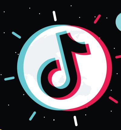 Le logo TikTok dans une illustration mettant à l'honneur le réseau social.
